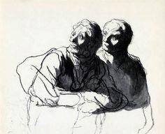 Honoré Daumier - Köpfe, Studie