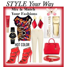 Mix & Match Your Fashions This Spring by mstese on Polyvore featuring Twelfth Street by Cynthia Vincent, Christopher Kane, Ruthie Davis, MICHAEL Michael Kors, Movado, Monies, Mulberry and Too Faced Cosmetics
