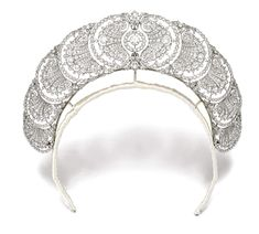 A diamond tiara from the 1920's at Sotheby's.