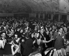 New York's legendary Cotton Club was open from 1923 to 1940. This picture was taken in 1937 and shows American bandleader and singer Cab Calloway leading an orchestra during a New Year's Ball.