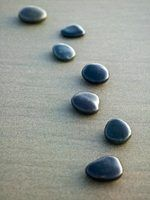 Zen gardens are made of sand and polished stones.