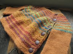 striped puerperium, knitted baby sweater