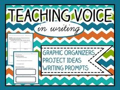 "Voice in Writing :: Activities, projects, & graphic organizers for identifying and using voice in writing! Partner texts- Voices in the Park by Anthony Browne and ""Eleven"" by Sandra Cisneros (not included, for copyright reasons!)Included in this pack:- Teaching guide- Identifying voice graphic organizer- Comprehension & written response questions for ""Eleven""- Diary writing prompt & template- Video diary project directions for studentsGraphics and borders credit to Krista Wallden..."