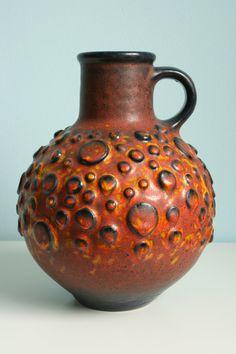featuring West German art pottery, Fat Lava and more century ceramics Glass Ceramic, Ceramic Pottery, Pottery Art, Pottery World, Zen Pictures, Ancient Artefacts, Porcelain Vase, Ceramic Artists, Mid Century Design