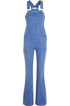 Stretch-denim overalls #allinone #covetme #stellamccartney