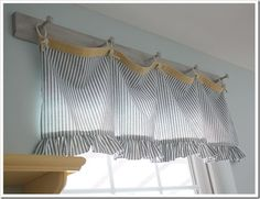 cute way to do come country style curtins, if I had windows in my laundry room, I would do this!