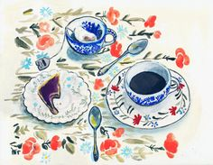 Tea and Toast by LlorePemberton on Etsy,