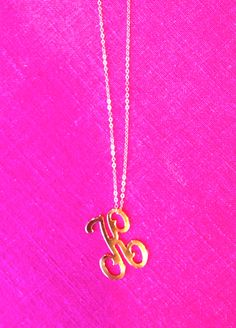 Moon and Lola Collette Letter on long apex chain, silver or gold!
