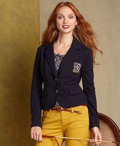 Tommy Hilfiger Blazer, Kingston Knit Embroidered - Womens Jackets & Blazers - Macy's