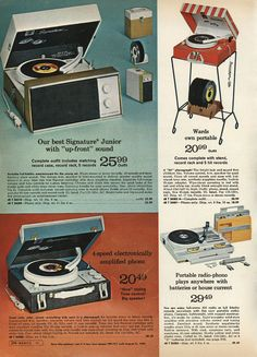 Vintage Record Players Ad From Montgomery Wards.