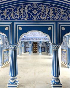 💙 Jaipur 💙 @prior Edward Hall, Blue Rooms, Jaipur, Wander, Taj Mahal, Beautiful Places, Louvre, India, World