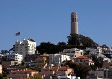 Free Photo - Coit Tower on telegraph hill in San Francisco, taken from Fisherman's Wharf. Coit Tower San Francisco, San Francisco City, San Francisco Travel, California City, California Travel, Best Cities, Landscape Photos, Willis Tower, Photos