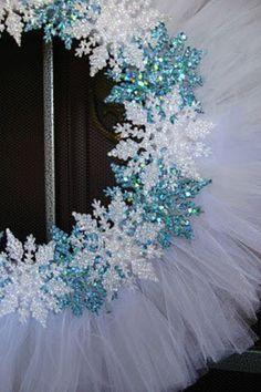 Tutu wreath- replace snowflakes