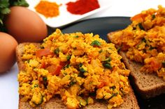 Anda-Bhurji - Spicy Indian Scrambled Eggs
