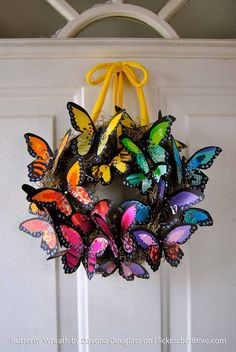 For inspiration. Davona Douglass Butterfly Wreath - Creative Butterfly Decor