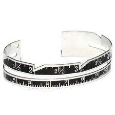 Sewing Gauge Ruler Bracelet- Found Object Jewelry. $25.00, via Etsy.