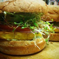 Butter nut squash burger