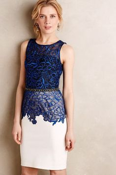 Cristata Lace Dress - anthropologie.com Ombre under floral pattern - infuse this idea in March print collection idea