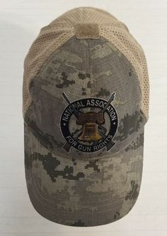 NATIONAL ASSOCIATION FOR GUN RIGHTS Hat Cap Tactical Camouflage Velcro  Patches  ad251511479e