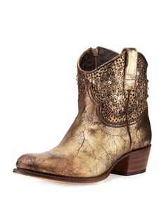 Deborah Studded Short Western Boot by Frye at Neiman Marcus. OMG LOVE THESE - havent tried