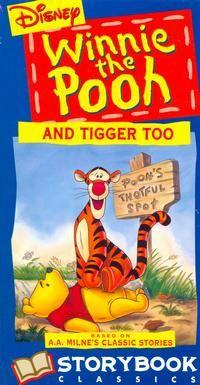Winnie The Pooh and Tigger Too VHS 1991 Disney Storybook Classics Tigger And Pooh, Winnie The Pooh Friends, Pooh Bear, Disney Winnie The Pooh, Charlie Brown Valentine, House At Pooh Corner, Short Film, Disney Pixar, Childhood Memories