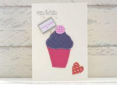 Birthday Card - Polka Dot Cupcake - Personalised £2.00