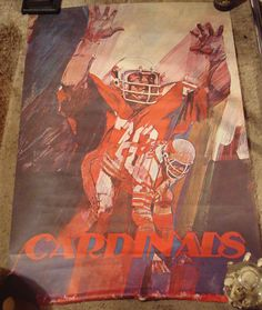1972 Football St. Louis Cardinals poster NFL Bartels Stancraft before Arizona NR | eBay