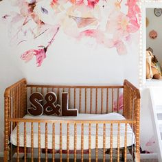 A Restful and Renovated Home for a Growing Family in Upstate NY – Design*Sponge Girl Nursery, Nursery Decor, Nursery Bedding, Nursery Ideas, Room Ideas, Monogram Pillows, Accent Pillows, Bedroom Furniture Makeover, Best Baby Gifts
