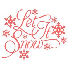Let It Snow Svg Cuttable Designs