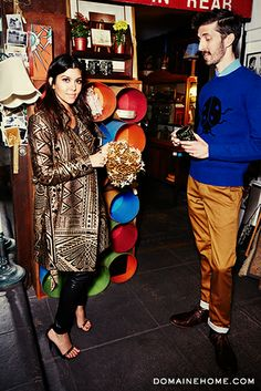 @Domaine's Editorial Director @Mat Sanders goes vintage shopping with Kourtney Kardashian!