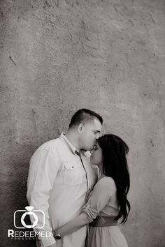 Jennifer + Juan's Engagement pictures taken in downtown Tulsa. Photo by Redeemed Productions.