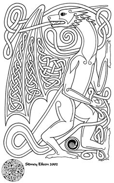 An older celtic knotwork piece I stumbled across. It's a dragon. Micron pen on smooth press paper, Knotwork Dragon Celtic Symbols, Celtic Art, Celtic Knots, Adult Coloring, Coloring Books, Coloring Pages, Colouring, Leather Tooling Patterns, Culture Art