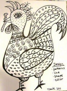 worm for dinner -lana wynne inspired Classroom Art Projects, School Art Projects, Art Classroom, 2nd Grade Art, Second Grade, Chicken Art, Chicken Crafts, Rooster Art, Art Lessons Elementary