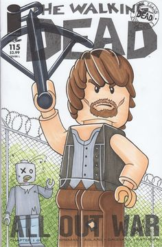 Lego+Daryl+From+The+Walking+Dead+on+Blank+Varient+Sketch+Cover+