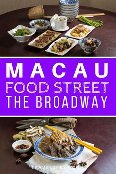 Macau Food Street – The Broadway. Nobody ever goes hungry in Macau – from multi-starred restaurants to hole-in-the-wall joints selling Portuguese egg tarts, the city's like one enormous buffet. Macau Travel, China Travel, Macau Food, Portuguese Egg Tart, Drinking Around The World, Festivals Around The World, Travel Tips, Travel Stuff, Budget Travel