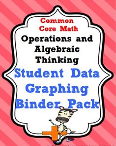 5th Grade Common Core Math Operations and Algebraic Thinking Student Data Tracking and Graphing Binder Pack