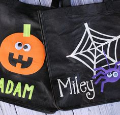 Personalized Trick or Treat Bags with your Silhouette - Crazy Little Projects