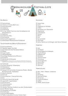 Festival Packliste