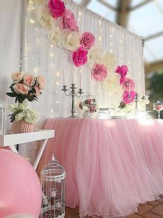 Pink And White Flower Backdrop Love The Background With Lights