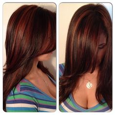 Hair Auburn Copper Highlights 47 Ideas For 2019 Hair Color Auburn, Hair Color Highlights, Auburn Hair, Copper Highlights, Light Highlights, Caramel Highlights, Love Hair, Great Hair, Gorgeous Hair