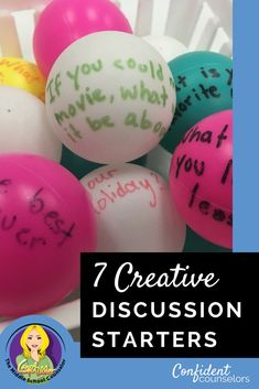 7 Creative Discussion Starters for School Counseling - Confident Counselors