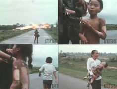 NICK UT TAKES PULITZER PRIZE WINNING PHOTO – JUNE 8, 1972, Vietnam War. Nick Ut took the famous photo of the little girl burned by napalm, which Ut won a Pulitzer Prize for.