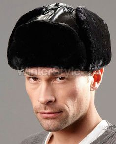 Sheared Beaver Trapper Winter Hat - Black