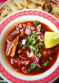 Birria-Style Stewed Pork--Birria is a dish typical of Jalisco, Mexico. It's most commonly prepared with goat or lamb and sometimes beef. It is rarely prepared with pork, but that is up to you.
