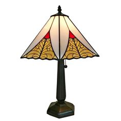 Shop for Amora Lighting Tiffany Style Mission Table Lamp 20 In High. Get free delivery On EVERYTHING* Overstock - Your Online Lamps & Lamp Shades Store! Get in rewards with Club O! Stained Glass Lamp Shades, Glass Shades, Lamp Shade Crafts, Mission Table, Buffet Table Lamps, Lamp Table, Traditional Lamps, Lamp Shade Store, Light Bulb Types