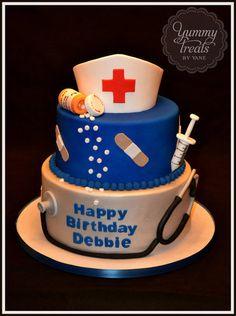 Haha! my MotherInLaw was a nurse & her name is Debbie ~ Nurse Cake!
