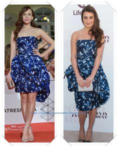 Un vestido de Oscar de la Renta Resort 2014 lo llevo primero Aura Carrillo en el Festival de Malaga; después se lo hemos visto a Lea Michele en el evento de The Hollywood Reporter