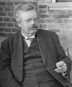 G.K. Chesterton was a Catholic theologian, apologist, and author of the fiction tales of the detective Priest, Father Brown