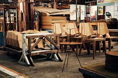 PIKA school for industrial woodworking INDONESIA Photography: Daniel Riera 2013 Outdoor Chairs, Outdoor Furniture, Outdoor Decor, Sustainable Forestry, Teak Wood, Industrial, Woodworking, School, Home Decor