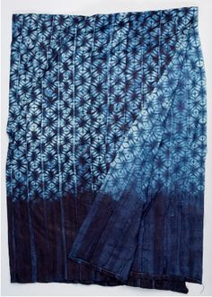 Africa | Garra cloth from Sierra Leone | Made using the tie and dye method. Cotton and indigo